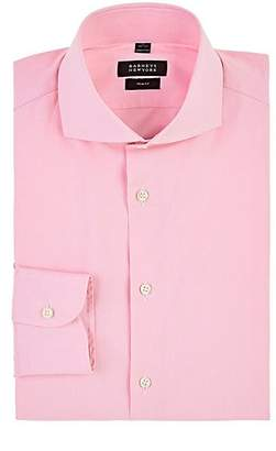 Barneys New York MEN'S PLAID COTTON DRESS SHIRT - PINK SIZE 18 XL