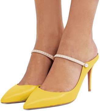 FSJ Women Cute Slip On Mules Pointed Toe Pumps Stiletto Heels Mary Jane Sandals Shoes Size 7