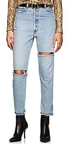 RE/DONE Women's High Rise Ankle Crop Levi's® Jeans - Lt. Blue