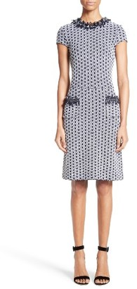 Women's St. John Collection Aadi Tweed Knit Dress $1,395 thestylecure.com