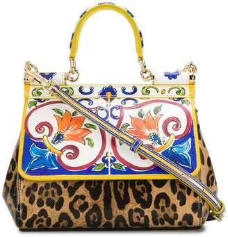 Dolce & Gabbana Sicily clash print tote