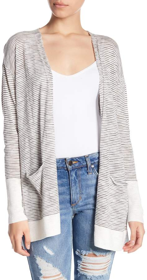 SUSINA Striped Swing Dolman Sleeve Cardigan (Regular & Petite)