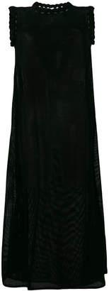 Jil Sander mesh effect sleeveless dress