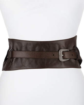 ca05aa9def Brunello Cucinelli Leather Corset Belt with Diamante Buckle