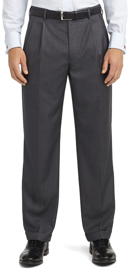 Brooks Brothers Madison Fit Saxxon Shadow Rope Stripe 1818 Suit
