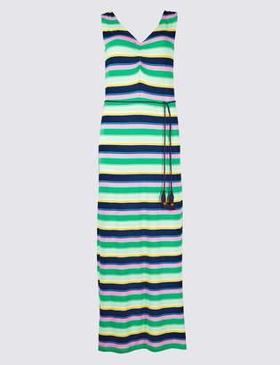 Marks and Spencer Striped Slip Maxi Dress