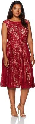 Julian Taylor Women's Plus Size Lace Pleated Dress