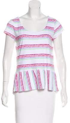 Splendid Short Sleeve Striped Top