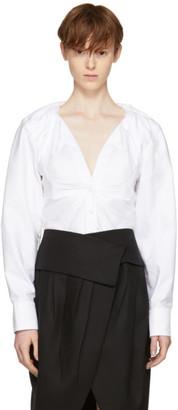 Jacquemus White 'La Chemise Jacqueline' Shirt $540 thestylecure.com