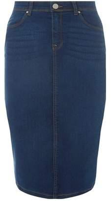 Dorothy Perkins Womens Indigo Pencil Skirt