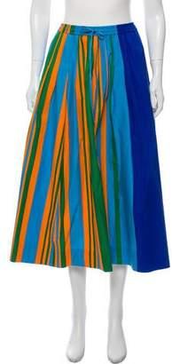 Diane von Furstenberg Striped Midi Skirt