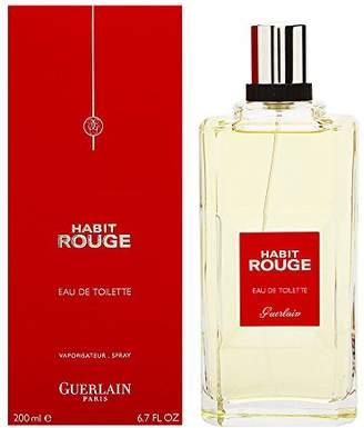 90a34e68b3bed Guerlain Habit Rouge By For Men. Eau De Toilette 6.7 Ounces