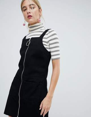 Chorus Circle Puller Zip Up Denim Jumper Dress