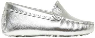 Tod's Metallic Nappa Leather Loafers