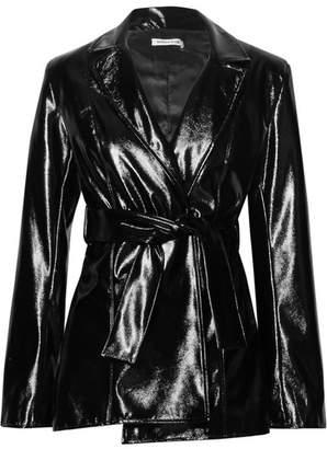 Georgia Alice - Night Belted Glossed-pu Jacket - Black