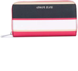 Armani Jeans striped wallet