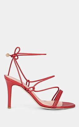 Barneys New York Women's Arese Leather Ankle-Tie Sandals - Red