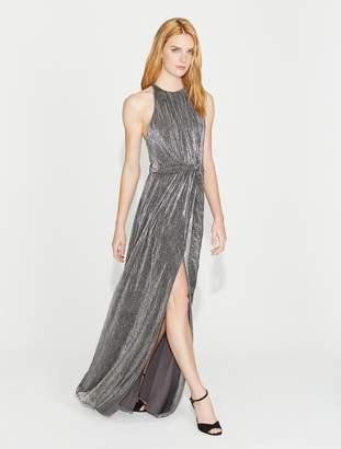 Halston Lurex Jersey Gown with Sash