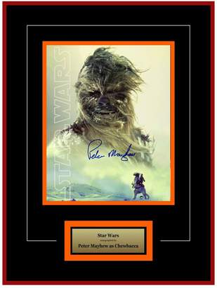 Star Wars FAIRCHILD PARIS Signed Peter Mayhew as Chewbacca Movie Photo
