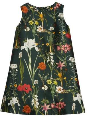Oscar de la Renta Flower Harvest Mikado A-Line Dress