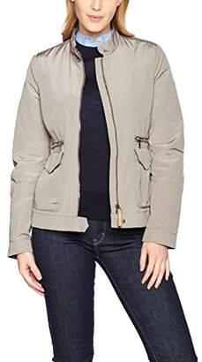 Geox Women's Coat Woman Jacket, Beige (Cobblestone Beige)