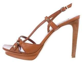 Celine Leather Slingback Sandals w/ Tags