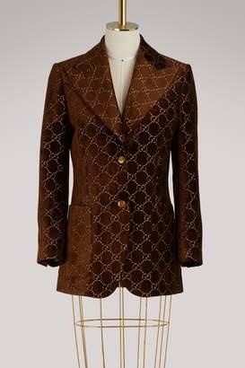 Gucci GG velvet jacket