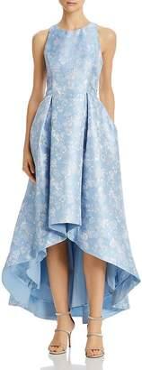 Aidan Mattox Floral High/Low Ball Gown