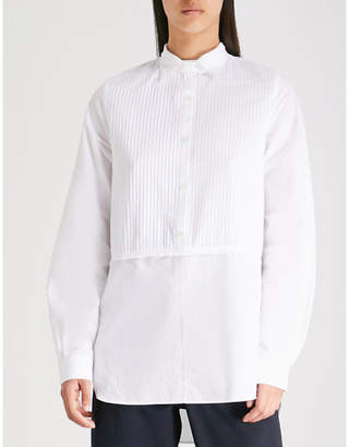 J.W.Anderson Striped cotton-poplin tuxedo shirt