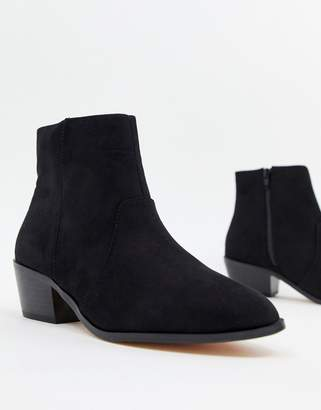 Faith Bull western heeled ankle boots in black