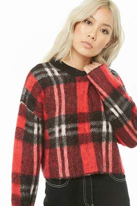 Forever 21 Boxy Brushed Knit Plaid Sweater