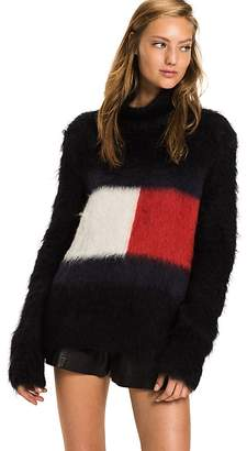 Tommy Flag Mohair Blend Sweater
