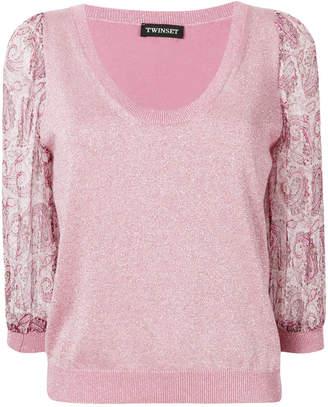Twin-Set paisley print sleeve blouse