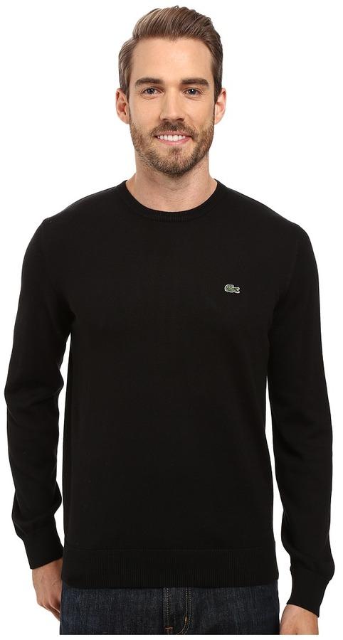LacosteLacoste Segment 1 Cotton Jersey Crew Neck Sweater