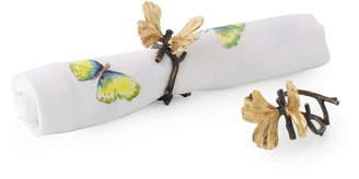 Michael Aram Butterfly Ginkgo Napkin Ring Set, Set of 4