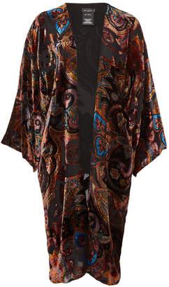 Etro Velvet Poncho with Silk