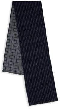 Saks Fifth Avenue Frayed Trim Silk Scarf