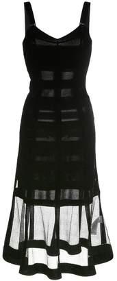 Alexander McQueen bustier midi dress