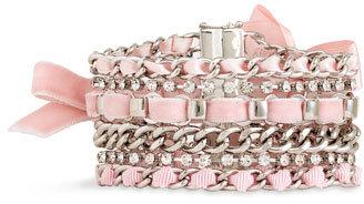 Juicy Couture Woven Ribbon Chain Bracelet