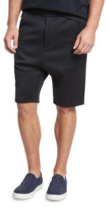 Vince Drop-Rise Shorts, Black $195 thestylecure.com