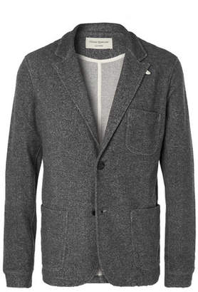 Oliver Spencer Loungewear Charcoal Unstructured Mélange Woven Blazer