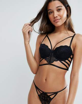 Asos DESIGN Florence strappy lace molded underwire bra