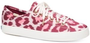 Kate Spade Keds for Kickstart Leopard Satin Sneakers