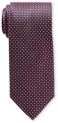 Piattelli Bruno Pink Diamond Geometric Silk Tie