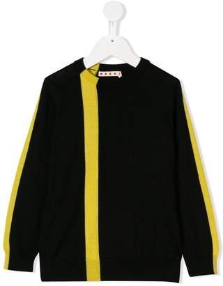 Marni colour block asymmetric stripe sweater