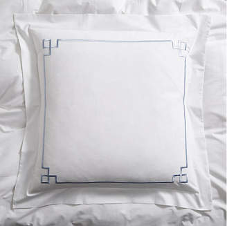Hamburg House Fretwork Euro Sham - Light Blue/White