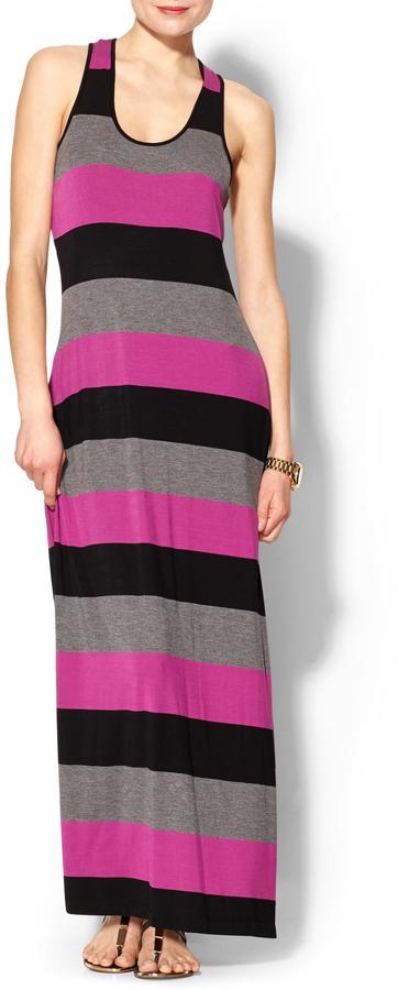 Calvin Klein Bold Stripe Tank Maxi Dress