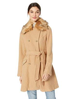 caf94e3568ee9 Jessica Simpson Women's Double Breasted Wool Fashion Coat, Camel, ...
