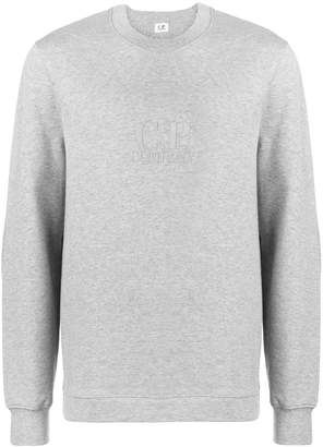 C.P. Company logo embroidered sweatshirt