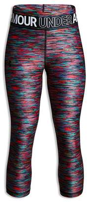 Under Armour Girls' HeatGear Armour Printed Capri Leggings - Big Kid